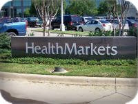 Health Markets Monument Sign