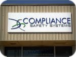 Compliance Safety Systems formed acrylic on an aluminum pan