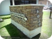 Faux Stone Monument Sign with Raised Aluminum Lettering