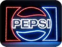 PinLights First-Surface LED Sign Face - Pepsi