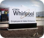 Whirlpool in Wilmer, TX monument sign